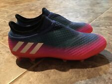 Adidas Messi 16+ Pureagility FG Soccer Cleats Blue Orange BB1871 Size 8.5 NEW