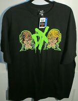 NWT WWE D-Generation X Cartoon Mooning Graphic Men's Black Shirt 2XL DX HBK HHH