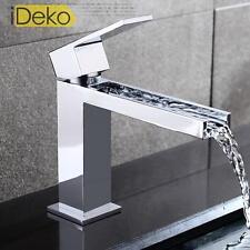Robinet lavabo cascade robinet Mitigeur salle de bain Haut de gamme en chrome