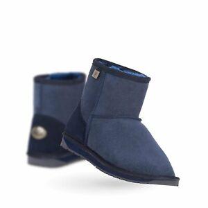 EMU Australia Platinum Stinger Mini Indigo Sheepskin Ugg Boots Men's Women's