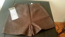 NWT B.B.Dakota for B.P. Nordstrom women's leather shorts lined Brown 5/6