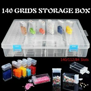 140-84 Slots Diamond Painting Rhinestone Container Drill Storage Organizer Box