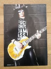 More details for slash (guns n' roses) 'plays'  magazine photo/poster/clipping 11x8 inches