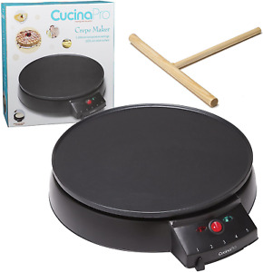 """Crepe Maker and Non-Stick 12"""" Griddle- Electric Crepe Pan with Spreader and Also"""