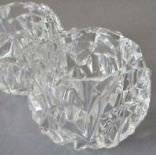 """Pr Faceted CRYSTAL Votive Candle Holders ~ Marked TIFFANY & Co * """"Rock Crystal"""""""