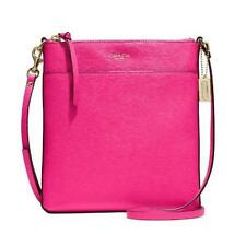 Coach F51313 Pink Ruby Saffiano Leather North South Swingpack Bag crzyjp