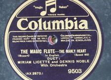 """78rpm 12"""" MIRIAM LICETTE & DENNIS NOBLE the manly heart / give me thy hand 9503"""