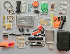 EDC Emergency Survival Tin Kit Bushcraft Multi Tools emergency kit prepper BOB