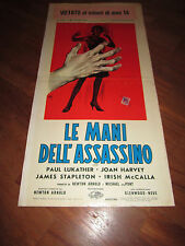 LOCANDINA '63-LE MANI DELL'ASSASSINO-ARNOLD-HARVEY LONGI