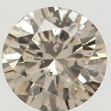 Natural Loose Diamonds Cut Round Brown Color 0.15 CT SI2 Clarity 3.50 MM N6259