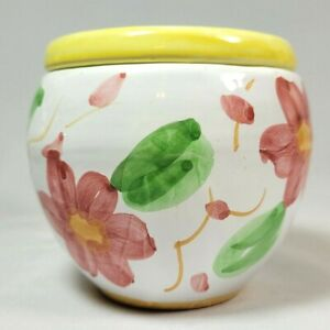 Vintage African Violet Flower Pot 2 Piece Self Watering Italy Hand Painted Small