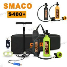 Smaco S400 Plus Scuba Diving Respirator 1L Oxygen Cylinder Air Tank Hand Pump Us