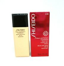 Shiseido Transparente y Base Perfecta SPF 18 ~ o 40 ~ 30 Ml/1 OZ ~ Nuevo Y En Caja