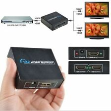 2 vías de 1x2 4K 1080P 3D Hdmi Splitter Amplificador Conmutador Hub para PC TV HD PS3 DVD
