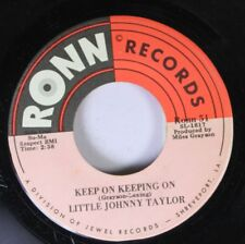 Soul 45 Little Johnny Taylor - Keep On Keeping On / How Are You Fixed For Love O