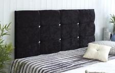 New Bed Headboard CubeThick Padded Crushed Velvet Divan Single,Double 6 colours