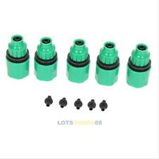 """5Pcs 1/4"""" 3/8"""" Plastic Garden Hose Water Pipe Connector Tube Fitting Tap Adapter"""