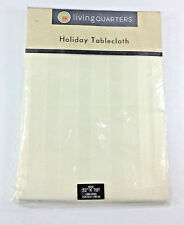 Living Quarters Holiday Ivory Tablecloth Oblong 52 x 70