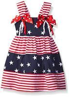 NWT Goodlad Patriotic Americana 4th of July Stars & Stripes Baby Girls Dress