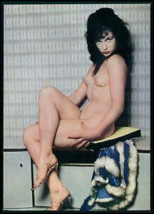 Pinup pin up LOLA nude woman original old 1950s Daily Girl Press postcard
