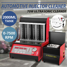 TQ-6C Fuel Injector Cleaner Tester W/Cleaning Tank Injection Testing Ultrasonic