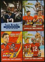 Tom Brady Rob Gronk Gronkowski TB Buccaneers 2020 Rookie Gems 4 Card Lot.