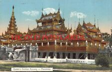 Burma, MANDALAY, Queen's Golden Kyoung, Printed card by D.A. Ahuja  # 138