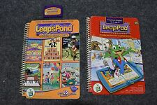 2 Leap Frog Leap Pad Leap's Pond Book & Cartridge Lot Age 4-10 Grade Pre K - 5