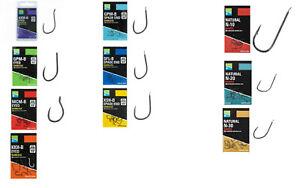 Preston Innovations Hooks PTFE Hair Rig Eyed Spade End Bagging Natural Fishing