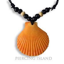 Echte Muschel Halskette Kette mit Muschelanhänger Maori Perlmutt Design N248b