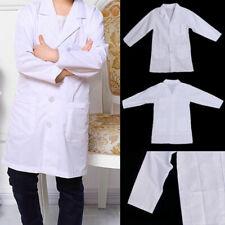 Kid White Lab Coat Doctor Hospital Scientist School Fancy Dress Costume Children