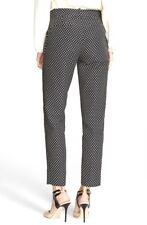 NWT KATE SPADE New York Black & White MARGAUX Café DOT Crop Pants Size 0 $278