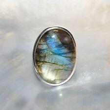 Labradorit Ring, 925er Silber, Edelsteinring (W20228), Edelsteinschmuck