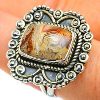 Crazy Lace Agate 925 Sterling Silver Ring Size 9 Ana Co Jewelry R50296F