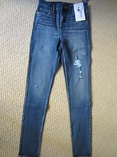 WOMENS ABERCROMBIE & FITCH A&F SUPER SKINNY HIGH RISE ON THE MOVE JEANS SIZE 6