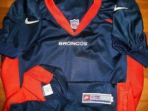 1998 Denver Broncos Blank Team Issue Authentic Game Jersey Sz 50 Nike USA RARE