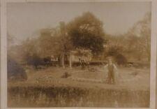 Rare 1910s Photograph Mason's Ritual Ceremonial Cemetery Garden 10'' x 12''