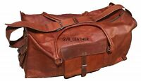 Weekend Handmade Holdall Bag Men's Him Leather Real Travel Duffel Luggage Gym