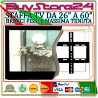 STAFFA MURO PARETE PER TV LCD - PLASMA - LED DA 26 A 60 POLLICI IN FERRO 45 KG