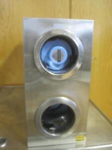 SAN JAMAR 2 SLOT PAPER/PLASTIC CUP DISPENSER STAINLESS STEEL RESTAURANT 24X16X8