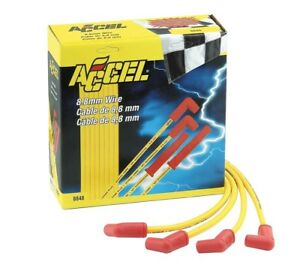 ACCEL SPARK PLUG WIRE SET 8.8MM  8848 SBC HEI OVER VALVE COVER MOST HEADERS