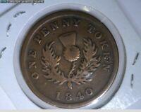 1840 Penny  Nova Scotia ( 78-306 8m/o )