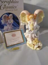 Seraphim Classics 2000 Roman Cassidy Blessings From Above Porcelain Angel Statue