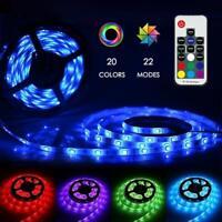 Ruban LED 5m Bande RGB 150 LED Autocollantes Télécommande 20 Couleurs 22 Modes