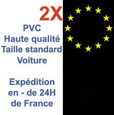 Sticker Autocollant plaque immatriculation France Noir droite gauche Adhésif X2