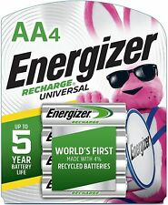 4 count Energizer Rechargeable AA Batteries - NEW
