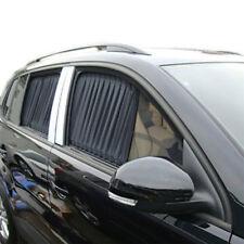 2Pcs Black 50cm x 47cm Adjustable VIP Car Side Window Curtain UV Sunshade Visor