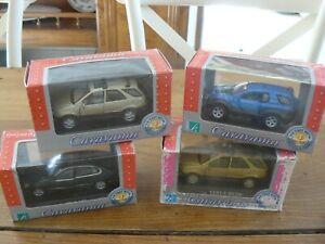 Lot de 4 voitures miniatures Cararama au 1/43 Neuve en boite
