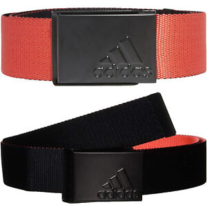 adidas Performance Mens Reversible Webbing Sports Golf Belt - Red - One Size