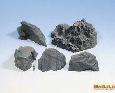 Noch 58451 Struktur-Felsstücke Granit, 5 Stück, H0/TT/N